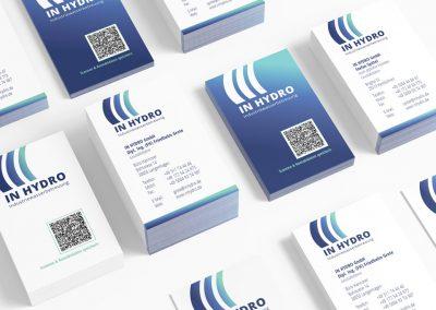 Visitenkarten Redesign für die IN HYDRO GmbH