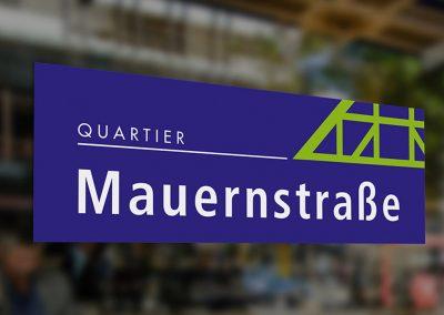 Logoentwicklung für das Quartier Mauernstraße