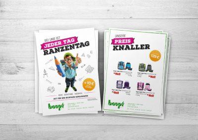 Hauptflyer & Flyer Preisknaller Ranzenwerbung 2018 für Haupt