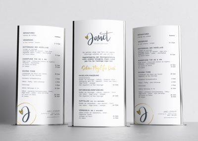 Flyer für das Nageldesign-Studio Janet Stadler