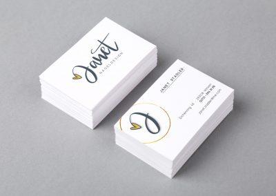 Logo & Visitenkarten für das Nageldesign-Studio Janet Stadler