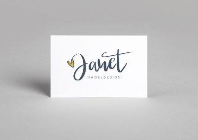 Logoentwicklung für das Nageldesign-Studio Janet-Stadler
