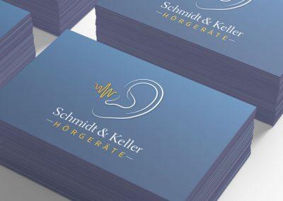 Logoentwicklung-&-Visitenkarten-für-Hörgeräte-Schmidt-&-Keller-GmbH-Stuttgart