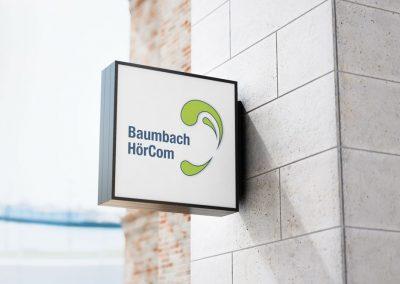 Logoentwicklung für die Baumbach HörCom GmbH